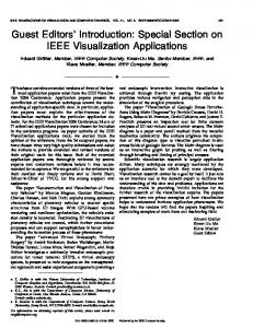 Guest Editors' Introduction: Special Section on IEEE ... - IEEE Xplore