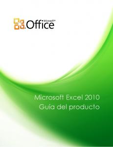 Guia Excel 2010 - Microsoft Download Center