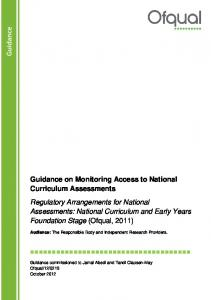 Guidance on Monitoring Access to National ...