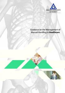 Guidance on the Management of Manual Handling in Healthcare