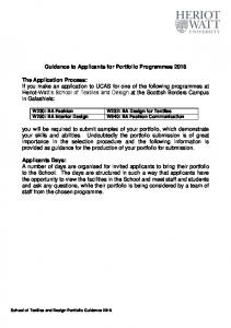 Guidance to Applicants for Portfolio Programmes 2014 - Heriot-Watt ...