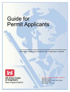 Guide for Permit Applicants