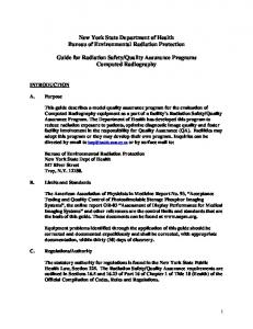 Guide for Radiation Safety/Quality Assurance Programs