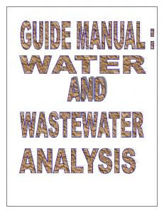 Guide Manual: Water and Wastewater Analysis - Central Pollution ...