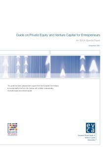 Guide on Private Equity and Venture Capital for Entrepreneurs - EVCA