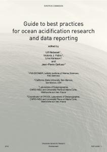 Guide to best practices for ocean acidification research and ... - ePIC