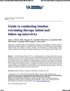 Guide to conducting tinnitus retraining therapy initial ...