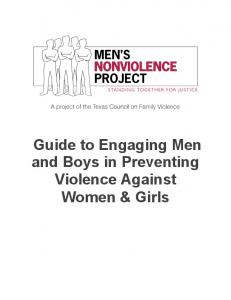 Guide to Engaging Men and Boys in Preventing Violence Against ...