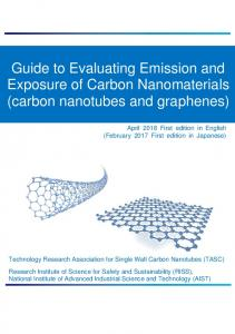 Guide to Evaluating Emission and Exposure of Carbon Nanomaterials ...