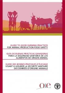 Guide to good farming practices for animal production food safety