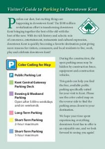 Guide to Parking in Downtown Kent - Kent State University Hotel ...