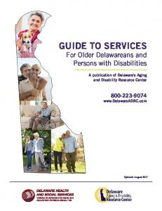 Guide to Services for Older Delawareans and Persons with Disabilities