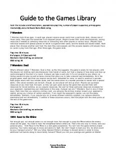 Guide to the Games Library