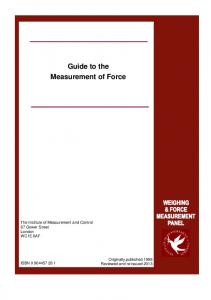 Guide to the Measurement of Force - National Physical Laboratory