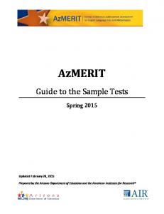 Guide to the Sample Tests