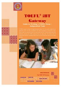 Guide to Writing a TOEFL Essay Independent Task.pdf - i-Courses.org