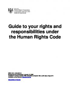 Guide to your rights and responsibilities under the Human Rights ...