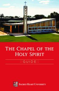 Guidebook for the Chapel of the Holy Spirit - Sacred Heart University