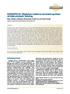 guided ab initio protein folding - CiteSeerX