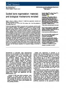 Guided bone regeneration - Wiley Online Library