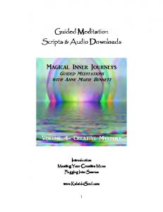 Guided Meditation Guided Meditation Scripts & Audio Downloads ...
