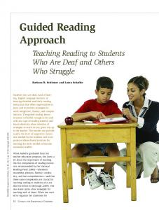 Guided Reading Approach: Teaching Reading to