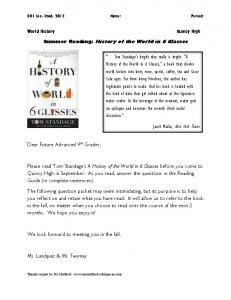 Guided Reading Packet - Quincy Public Schools
