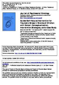 Guided Self-Help as Intervention for Traumatic Stress ...