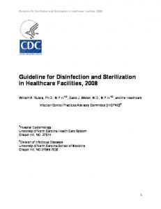 Guideline for Disinfection and Sterilization in Healthcare Facilities, 2008