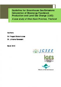 Guideline for Greenhouse Gas Emissions Calculation ...
