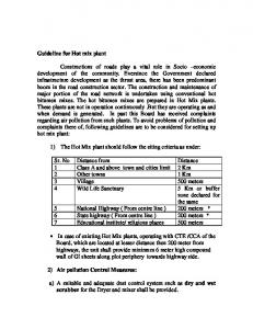 Guideline for Hot mix plant - Gujarat Pollution Control Board