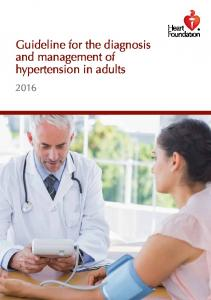 Guideline for the diagnosis and management of hypertension in adults