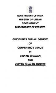 Guidelines for Allotment - Directorate of Estates