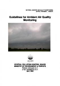 Guidelines for Ambient Air Quality Monitoring - Central Pollution ...