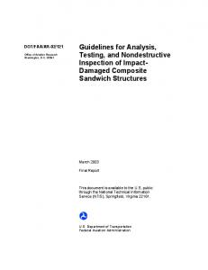 Guidelines for Analysis, Testing, and Nondestructive Inspection of ...