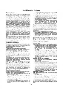 Guidelines for Authors - 2 pagini.qxp - Journal of Oral Health and ...
