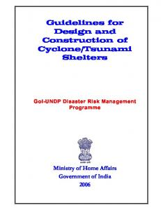 Guidelines for Design and Construction of Cyclone ... - PreventionWeb