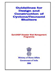 Guidelines for Design and Construction of Cyclone/Tsunami ... - NIDM