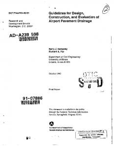 Guidelines for Design, Construction, and Evaluation of Airport ...