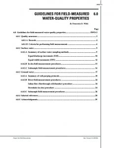 guidelines for field-measured 6.0 water-quality ... - Water Resources