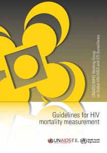 Guidelines for HIV mortality measurement - WHO South-East Asia