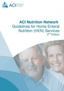 Guidelines for Home Enteral Nutrition (HEN) Services - 2nd Edition