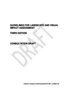 Guidelines for Landscape and Visual Impact Assessment 3rd edition