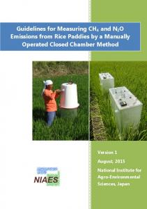 Guidelines for Measuring CH4 and N2O Emissions from Rice ... - affrc