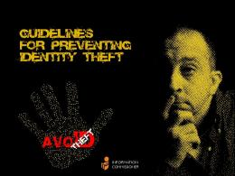 Guidelines for preventing identity theft