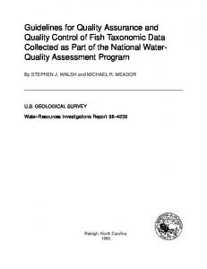 Guidelines for Quality Assurance and Quality Control of Fish ...