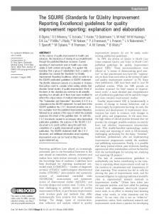 guidelines for quality improvement reporting ... - BioMedSearch