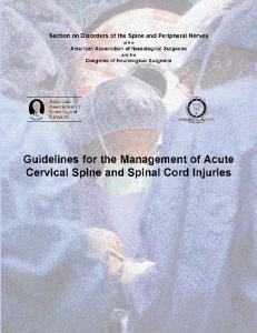 Guidelines for the Management of Acute Cervical Spine - American ...