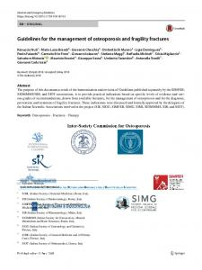 Guidelines for the management of osteoporosis and fragility ... - FloRe