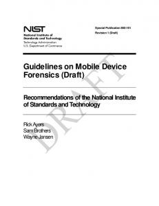 Guidelines on Mobile Device Forensics